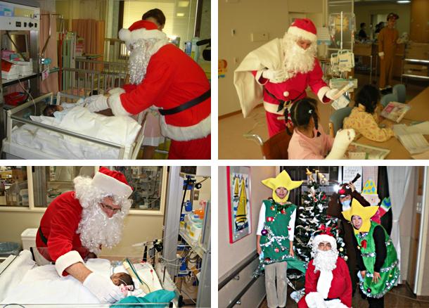 サンタクロースの病院訪問